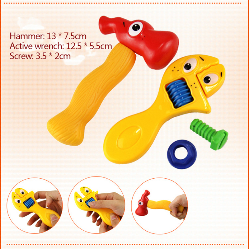 boy toys tools drill toys for boys chainsaw kids tools Hammer screw wrench saw screwdriver ax tool box for children plastic toy