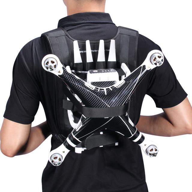 Black  Portable Backpack Belt Shoulder Harness Strap For DJI phantom 3 2 Quadcopter Drone Professional Luggage Bag Case