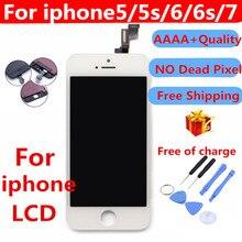 Grau AAAA ++++ Para iPhone 6 6 S Mais LCD Com Força 3D 5S Tela de Toque Digitador Assembléia Para iPhone exibir Nenhum Pixel Morto
