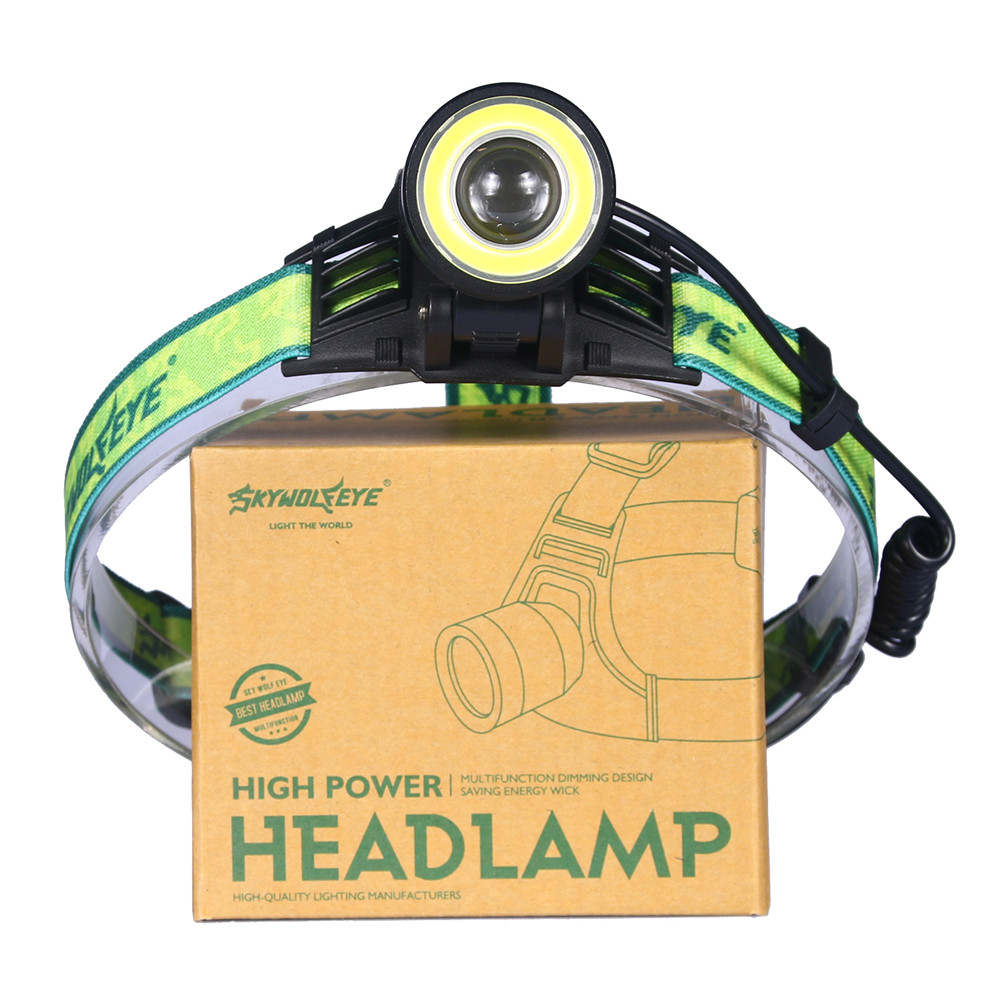 10000Lm XM-L T6 + COB LED Scheinwerfer Wiederaufladbare 4 Modi Zoomable-led Scheinwerfer Jagd Kopf taschenlampe 18650 Kopf Licht lampe