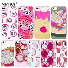 MaiYaCa Fruit Dragon_ fruit Hot selling design skin thin cell Case for iPhone 8 7 6 6S Plus X 10 5 5S SE 5C 4 4S Coque Shell(China)