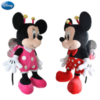 Genuine Disney Insect Mickey Mouse Minnie Kawaii Plush Cotton Stuffed Animal Toys Doll Christmas Gifts Toys