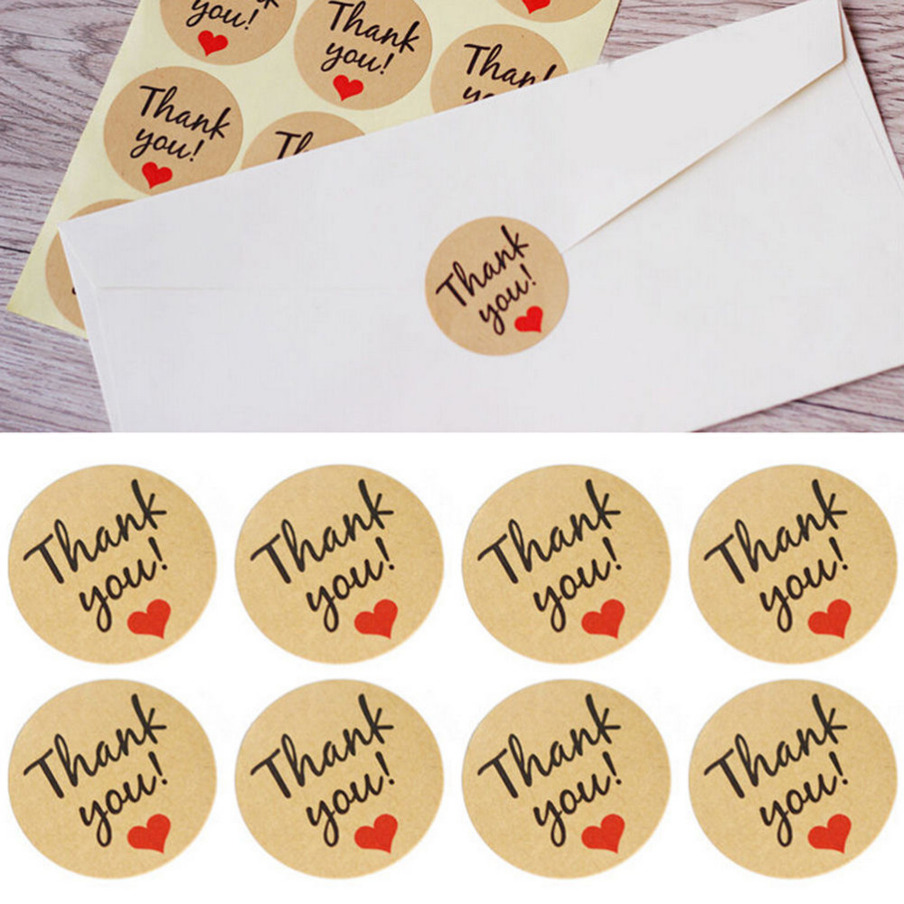 60Pcs Kraft Paper Thank You Gift Tags Wedding Favors Party Accessories Christmas DIY Wedding Vintage Wedding Decoration  P0.5