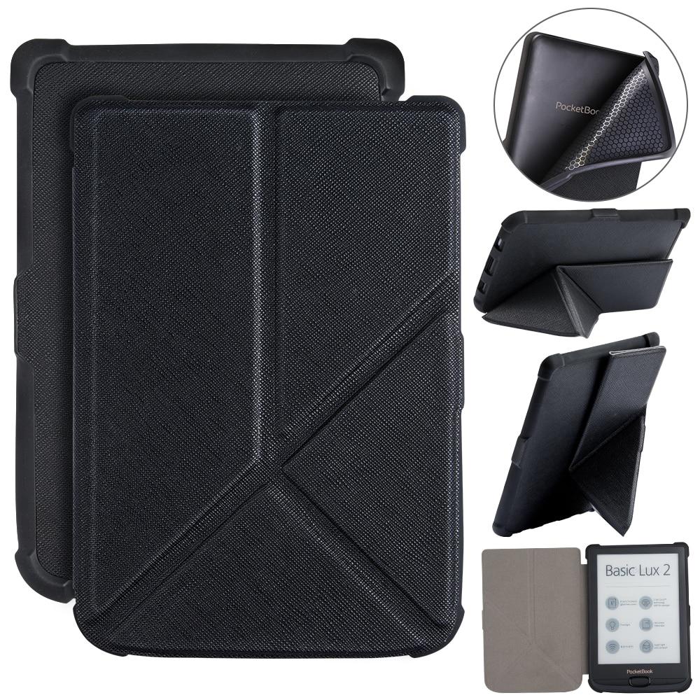 Los caminantes para Pocketbook 616/627/632 Ereader de Origami para cartera básicos Lux 2/touch Lux /touch HD 3 + regalo