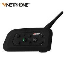 VNETPHONE Bluetooth Intercom Motorcycle Helmet Accessories Speaker 1200m 6 Riders Interphone Headset Support Mp3 Music GPS