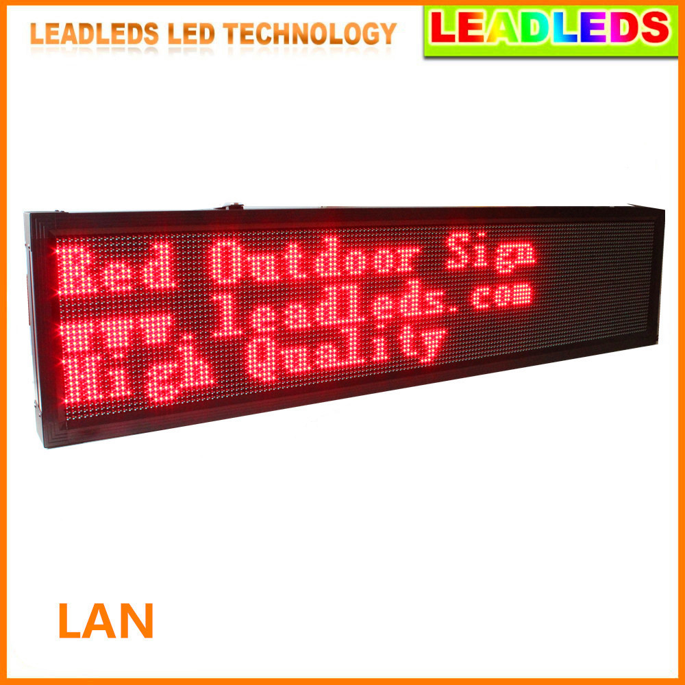P10 2M Outdoor Waterproof LED Display Board 24 Hours Advertising Open Message Sign -------Red Message