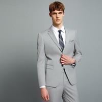 mens suits with pants light gray wedding suits for men man suit slim fit casual formal business mans plus size 58 6xl suits set