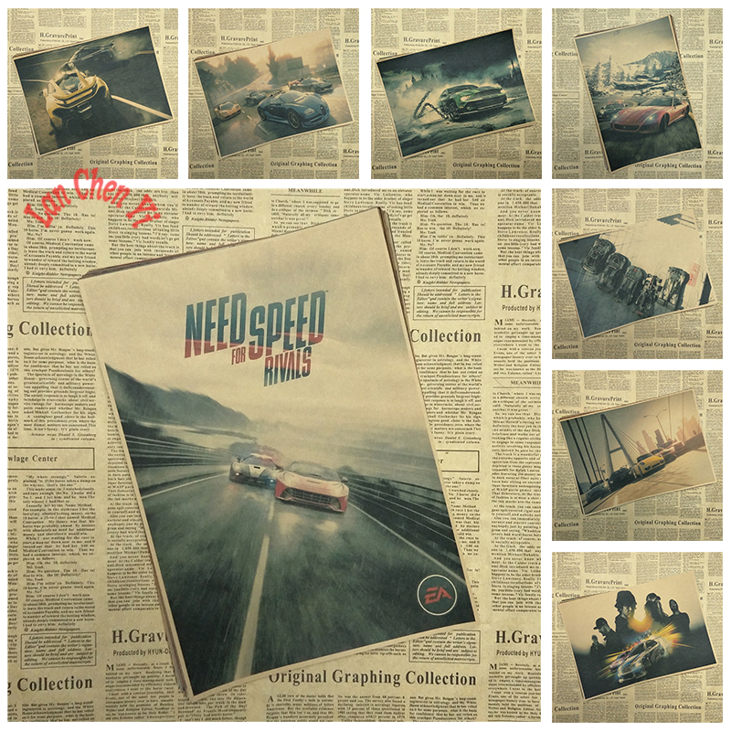 Need For Speed Classic Game Poster Bar Cafe Living Room Office Decorative Paintings Home Decor