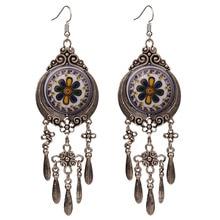 4 Colors Bohemian Ethnic Tribal Large Drop Dangle Chandelier Earrings for Women New Vintage Indian Jewelry