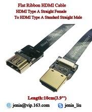 "3.9"" 10CM Thin Soft Ultra HDMI Cable Type A Straight Female to Type A Straight Male Ribbon Flat Cable HDMI Super Flex Cable FPV"