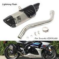 Для 2008 2009 2010 2011 2012 Suzuki gsx r 1000 мотоциклов выхлопных Системы середине ссылку на локтях хвост Escape без дБ убийца слипоны изменение