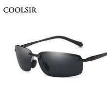 2017 COOLSIR Aluminium Magnesium Sunglasses Men Polarized Sunglasses Brand Design Driving Goggle Sunglasses Oculos de sol 7105c