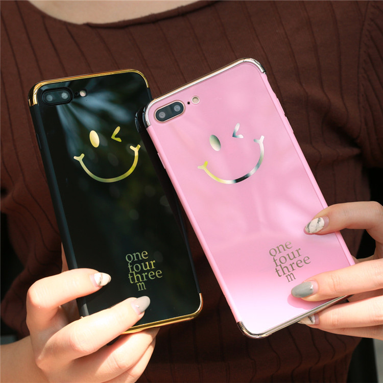 Fashion <font><b>Emoji</b></font> Painted Smile Face <font><b>Case</b></font> Capa For iPhone 6 6S 7 7 Plus <font><b>Phone</b></font> <font><b>Case</b></font> Mirror Soft TPU Full Protection Back Cover Coque