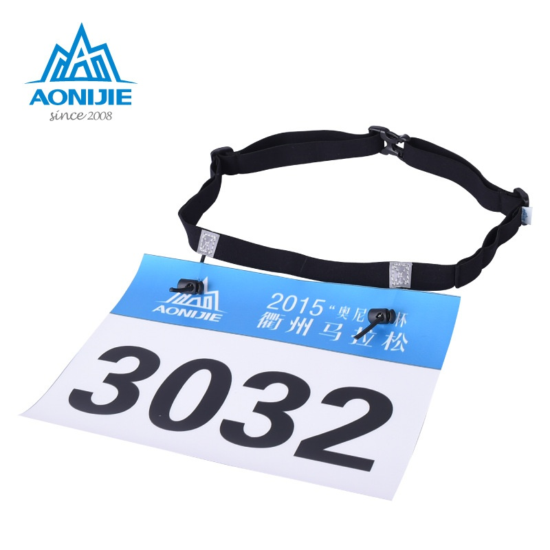 Unisex outdoor games Marathon Race Number Belt With Gel Holder Running Belt Cloth Belt Motor Running Outdoor sports