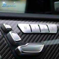 Velocidad del aire, asiento de coche de botón de ajuste cubierta de la etiqueta engomada para Mercedes Benz A, B, C, Clase E W204 W212 GLA X156 La CIA C117 sobre las W166 ML GL GLS