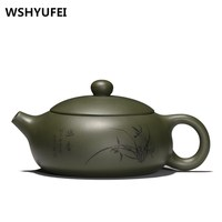 teapot Yixing Authentic Purple Clay Vintage Teapot All Handmade Zisha Stone Scoop Pot Small Capacity Raw Ore Black Tea Kettles
