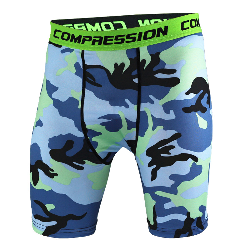 Mens Compression Shorts 2017 Summer Camouflage Bermuda Shorts Fitness Men Cossfit Bodybuilding Tights Camo Shorts MAILALA