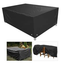 Exterior impermeable a prueba de polvo Snow Furniture Cover Case Tarpaulin jardín Patio silla para mesa de café impermeable sofá Set de protección(China)