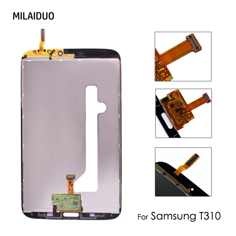 <font><b>LCD</b></font> Display Für Samsung Galaxy Tab 3 T310 <font><b>T311</b></font> 8,0 zoll SM-T310 Wifi Touchscreen Digitizer Glas Panel Ersatz Montage image
