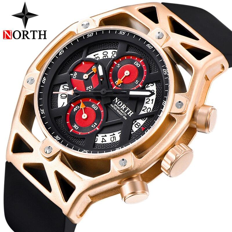 Северная Для мужчин s часы лучший бренд Роскошный хронограф кварцевые часы Для мужчин аналоговый Дата Повседневное военные спортивные нару