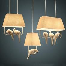 Примитивные Латинской Америки кафе свет lustre Лофт кафе старинные клетка для птиц подвесной светильник спальня Бар кухня подвесные светильники