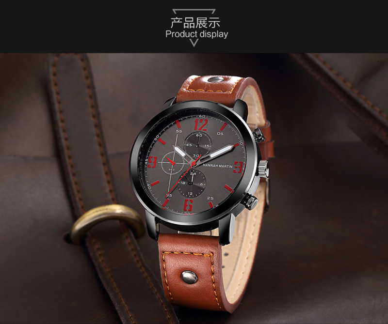 Relogio Masculino Mens Watches Top Luxury Brand Waterproof Sports Military Watch Men Fashion Leather Quartz Male Wristwatch