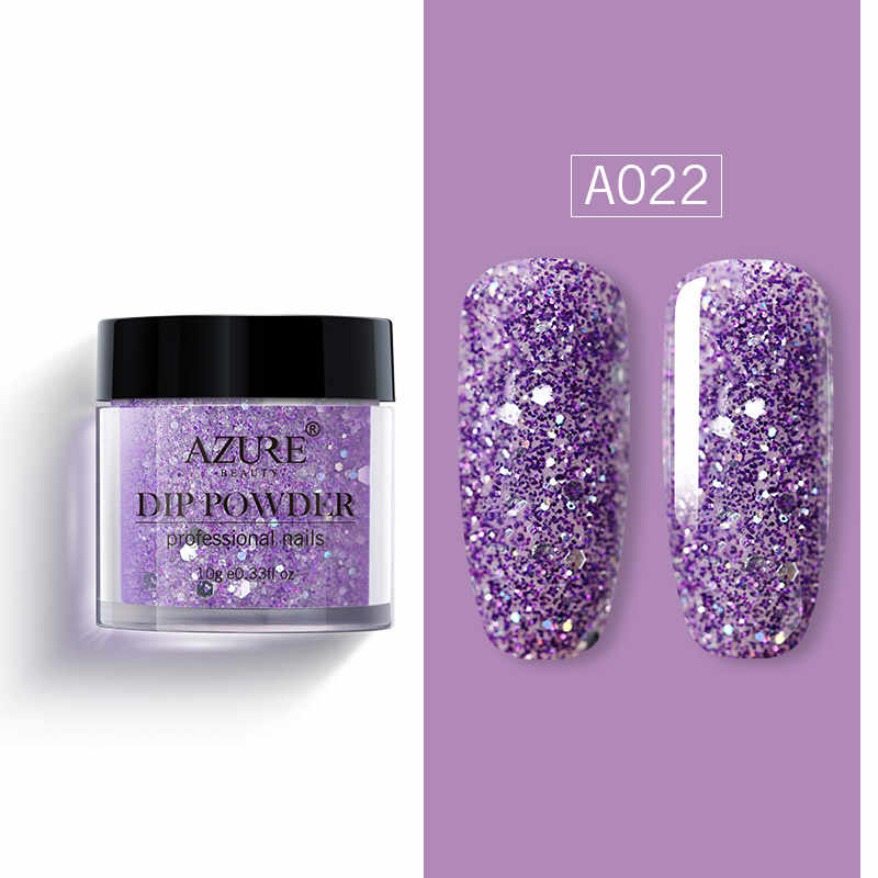 Azure Beauty Matte Effect Dipping Powder Shiny Glitter Gradient Color Nail Dip Powder Matte Top Coat Nail Glitter Powder