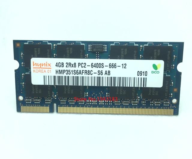 Notebook memoria hynix DDR2 4 GB 800 MHz PC2 Originale autentico DDR 2 4G RAM Del Computer Portatile PIN SODIMM