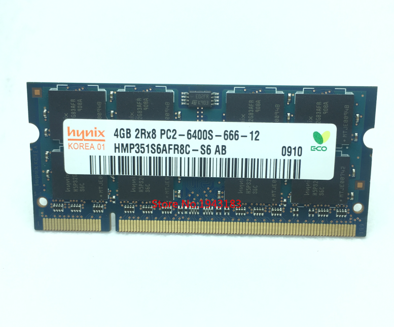 Notebook speicher hynix DDR2 4 GB 800 MHz PC2-6400S Original authentischen <font><b>DDR</b></font> <font><b>2</b></font> 4G Laptop <font><b>RAM</b></font> 200PIN SODIMM image