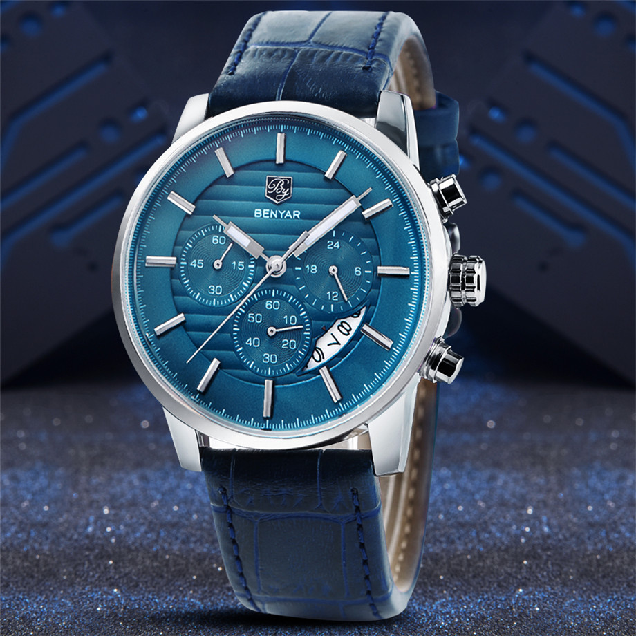 BENYAR Watch Men Waterproof Chronograph Business Dress Mans Watches Date Quartz Wristwatches Male Hour relogio masculino 2017 (12)