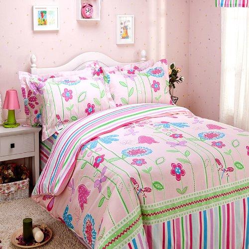 elegante colorido del arco iris juego de sbanas de cama romntico rstico americano juego de