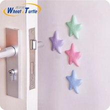 Купить с кэшбэком 2Pcs/Lot Cute Starfish Shape Sticky Door Stopper Shockproof Crash Pad Anti-crash Safe Wall Protector Home Decoration