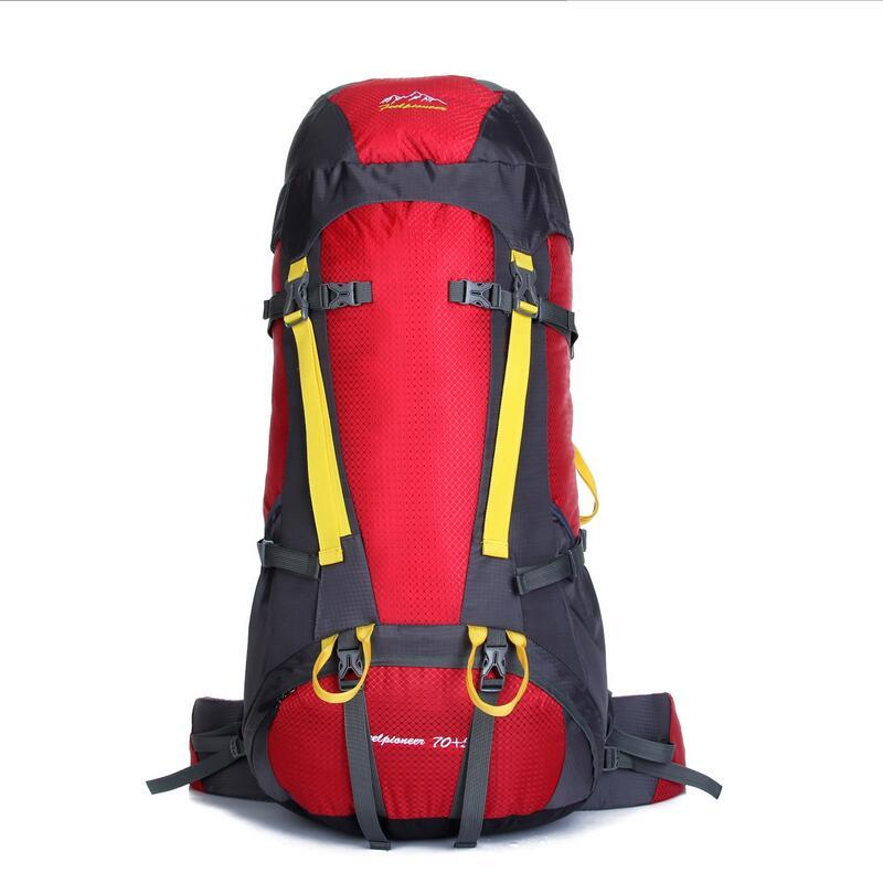 Professional mountaineering bag shoulder travel bag waterproof Outdoor camping men women bag backpack Hiking Rucksack 75L 7color