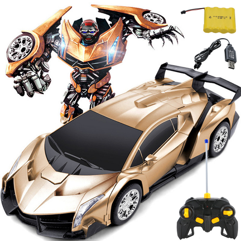 Electric RC Car Toy Remote Control Cars Transformation Robots Deformation Car 4.8V 4CH Kids Toys Birthday Gifts NKG068 цены