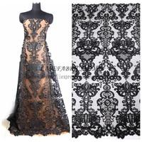 Black Cord Sequins Brand Evening Wedding Dress Lace Fabric 51 Gold Black Off White Deep Blue