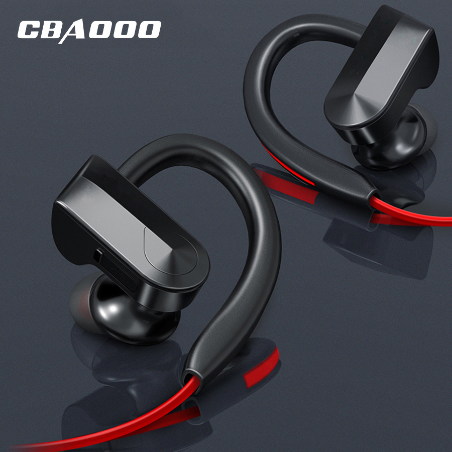 8Hours wireless Headphones Earphone bluetooth sport earphone sweatproof Headset Stereo blutooth Headphone with MIC for phone все цены