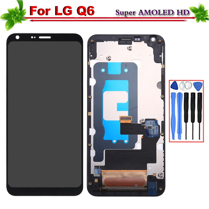 Replacement for LG Q6 M700 M700A US700 M700H M703 LCD Display Screen Touch Digitizer Assembly With frame for LG Q6 Lcd DisplayReplacement for LG Q6 M700 M700A US700 M700H M703 LCD Display Screen Touch Digitizer Assembly With frame for LG Q6 Lcd Display