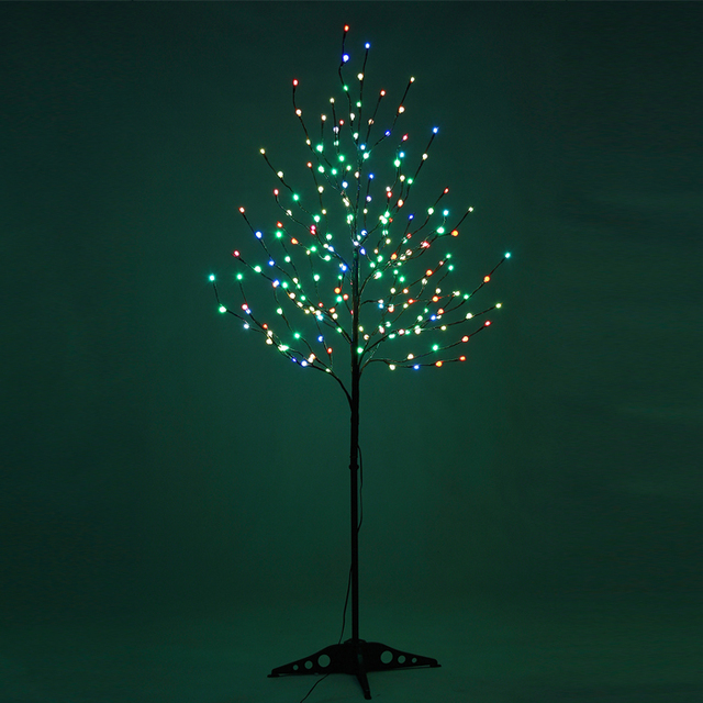 Stock In Us 2015 Led Frosted Ball Christmas Tree Lightmulti Color
