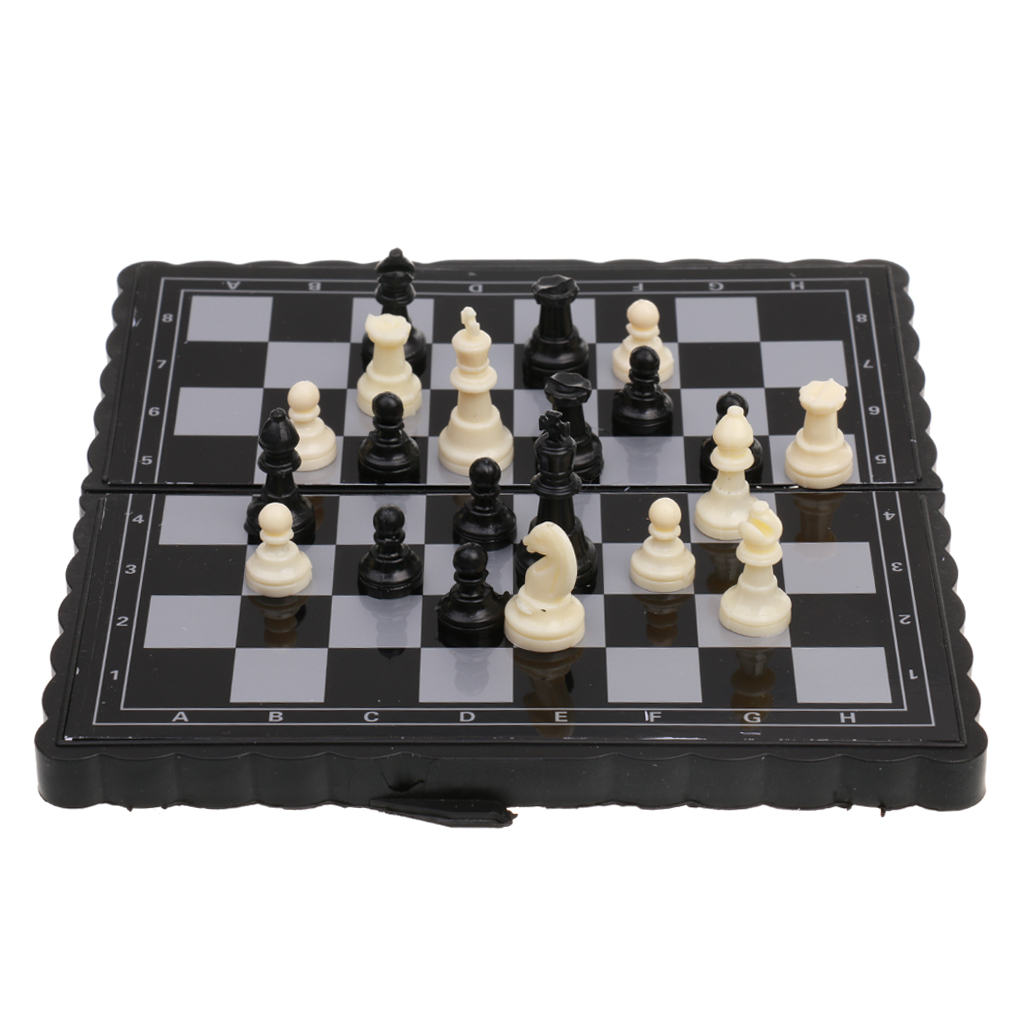 Wooden Folding Chess Set Traditional Board Games Quality Classic Toys Travel Kid