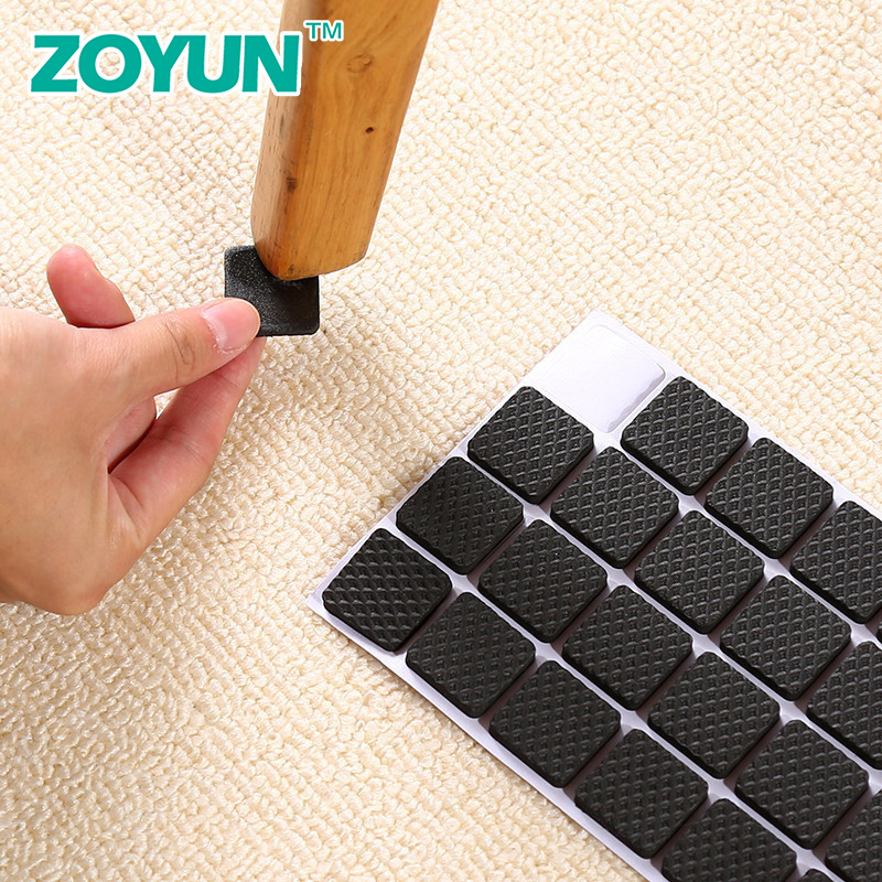 Chair Foot Pad Table Foot Pad Table Corner Furniture Sofa Leg Mute Wear-resistant Anti-slip Stickers Protective Stool Foot Cover