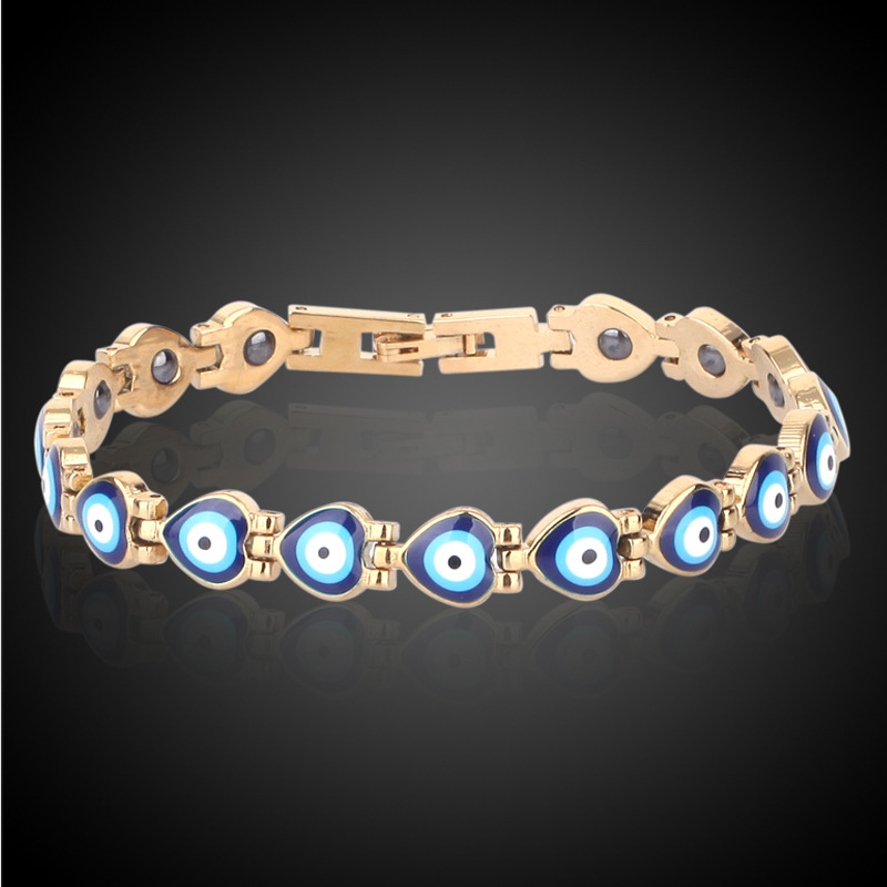HOMOD Magnetic Bracelet Beads Hematite Stone Therapy Health Care Stainless Titanium Steel Magnet Bracelets Women Jewelry
