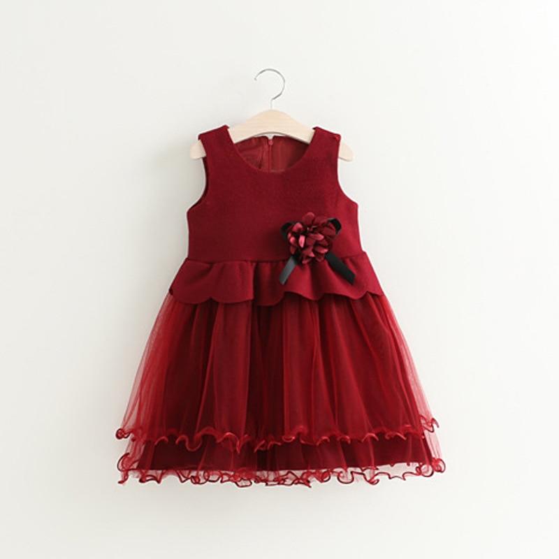 2-6Y Summer Girl Dress Children Wedding Party Dress Cute O neck Clothes Fashion Kids Lace Dresses Birthday Princess Dress цена