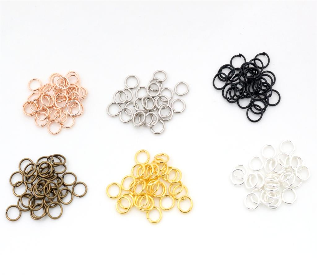 купить 200pcs/Lot 3/4/5/6/7/8/10mm Metal DIY Jewelry Findings Open Single Loops Jump Rings & Split Ring for jewelry making по цене 58.63 рублей