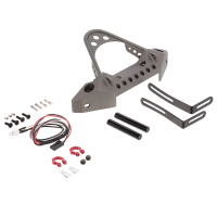 RC Car Metal Front Bumper with Light for 1/10 RC Crawler Car Traxxas TRX 4 Axial SCX10 & SCX10 II 90046 RC Parts