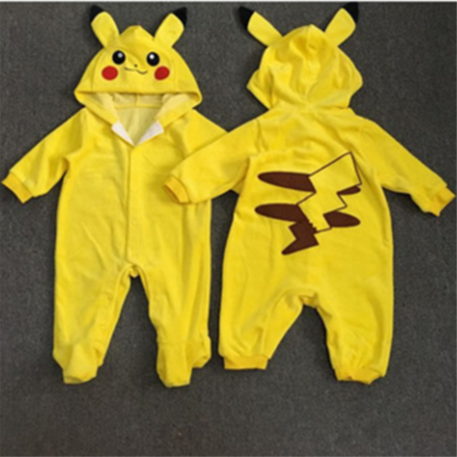 Androctones Copii Pokemon Pikachu Costum Onesie Copii Fete Băieți Cântăroase Cosplay Cosplay Pijamale Halloween Costume