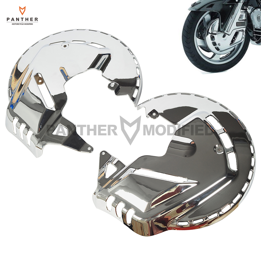 1 Pair Motorcycle Front Brake Rotor Covers LED Ring Of Fire Moto Brake Cover Light Case For Honda GL1800 Goldwing 2001-2014