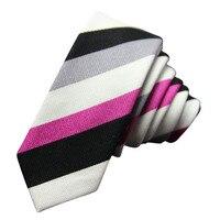 New fashion tie Classic Men Stripes Suit Tie JACQUARD WOVEN Men's Tie Necktie 6 cm business wedding ties Male Dress Suit Wedding