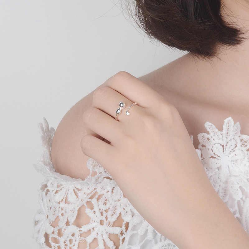 Punk Retro 925 เงินสเตอร์ลิงแหวนผู้หญิงหรูหรา Bohemian Vintage Statement เครื่องประดับนิ้วมือแหวน