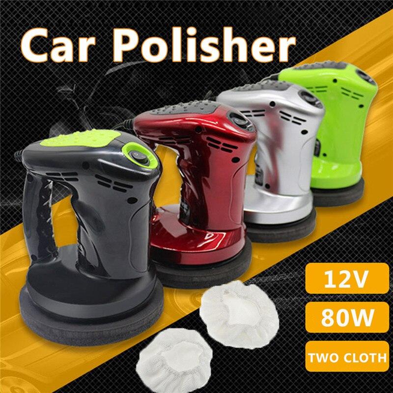 12 v 80 watt Tragbare Auto Fahrzeug Polierer Elektrische Sander Auto Polieren Maschine Gewachste Puffer Waxer Vakuum Reiniger Werkzeuge Kit