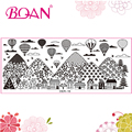 1 Sheet  BQAN Free Shipping Fire Balloon/Peaceful Villages Patterns Nail Stamping Plates